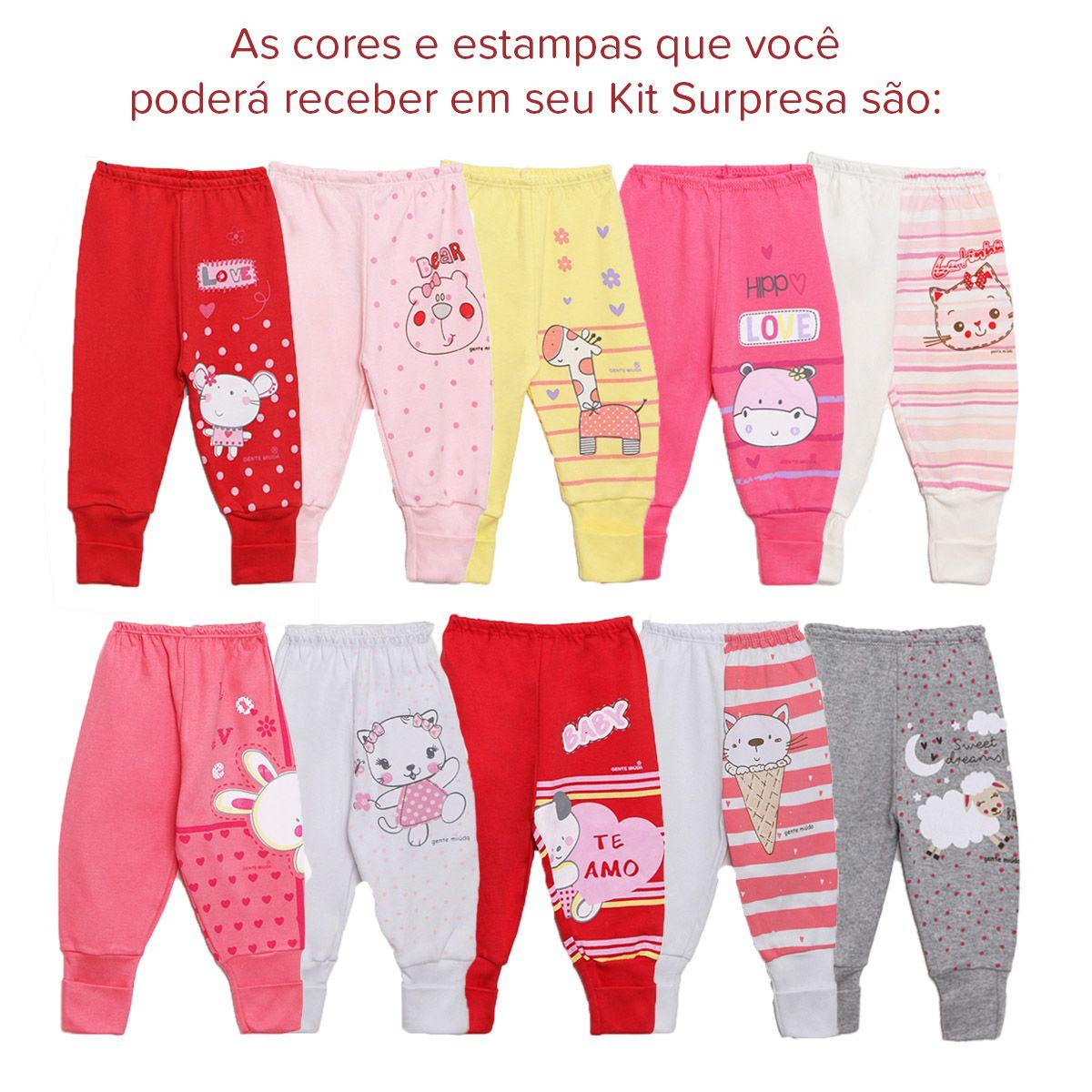 Kit Mijão Bebê 3 Peças Menina Surpresa Colorido