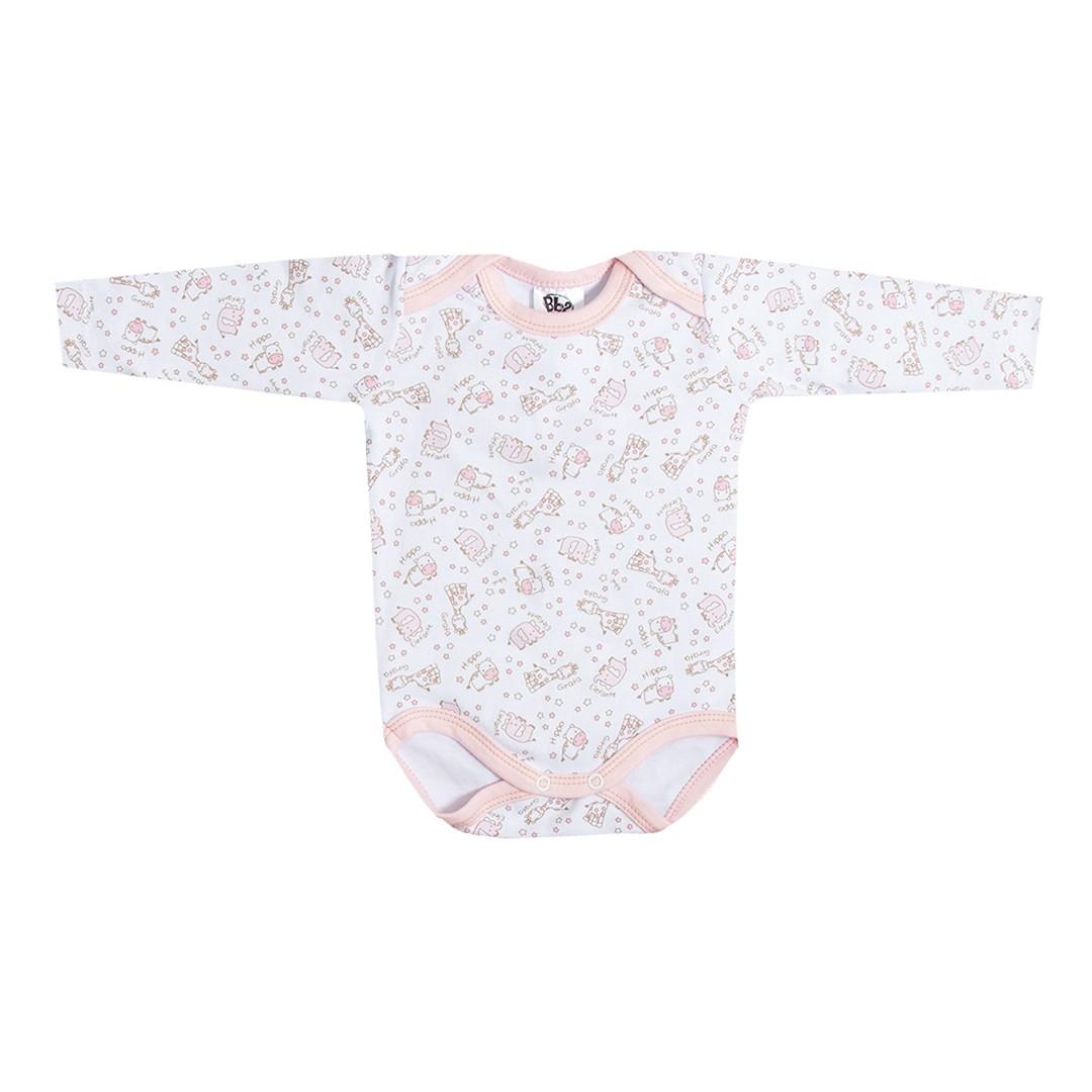 Kit Saída de Maternidade com 5 Peças Menina Elefantinho Rosa