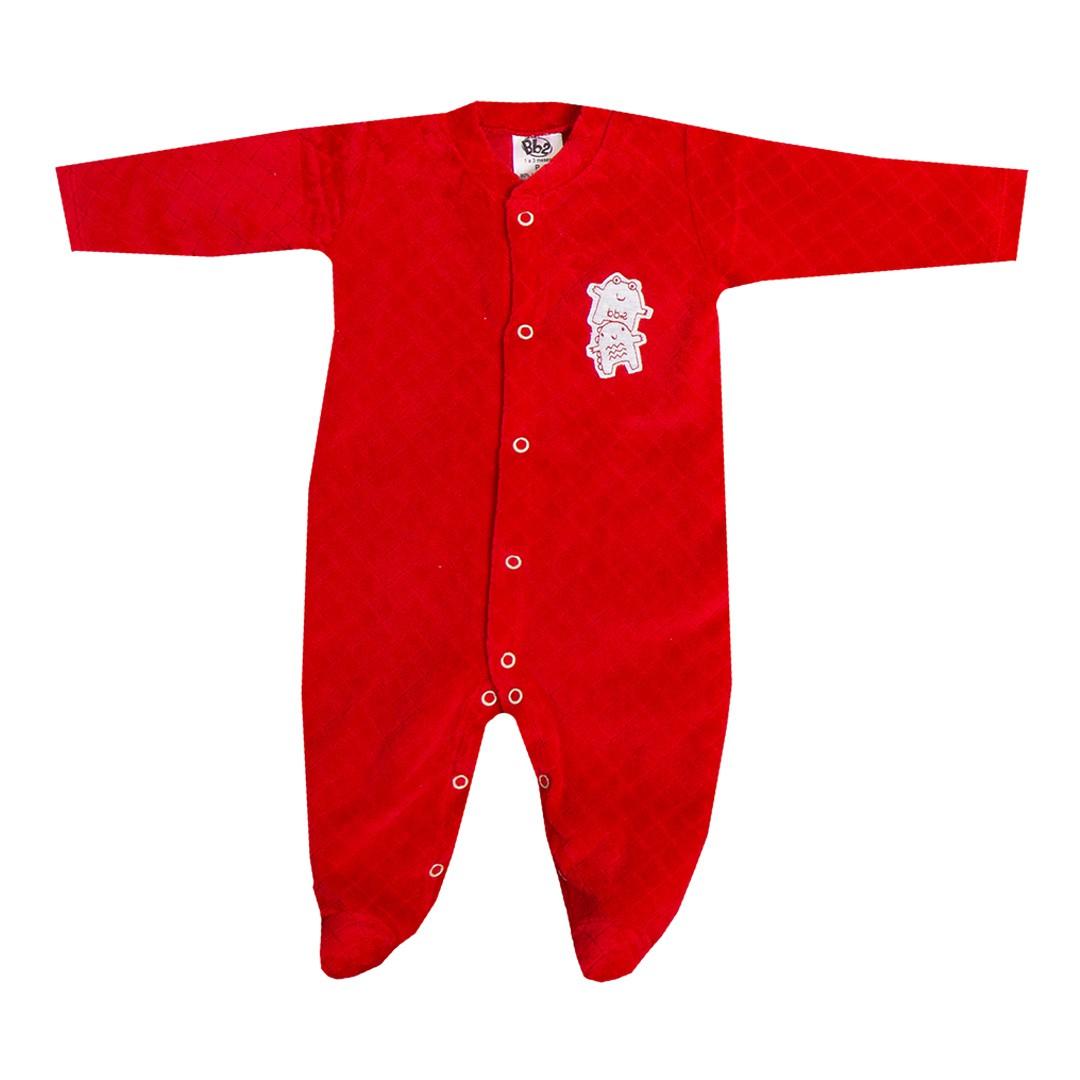 Kit Saída de Maternidade com 5 Peças Menino Monstrinhos Vermelha