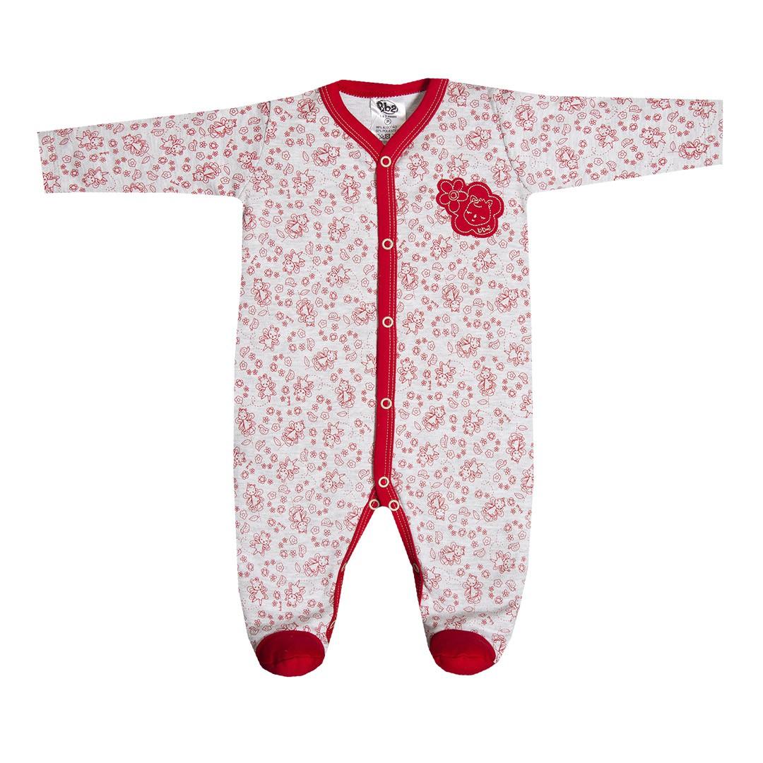 Macacão Bebê em Suedine Menina Fadas Vermelho