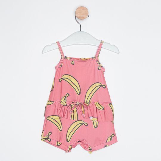 Macaquinho Bebê Bananas Rosa