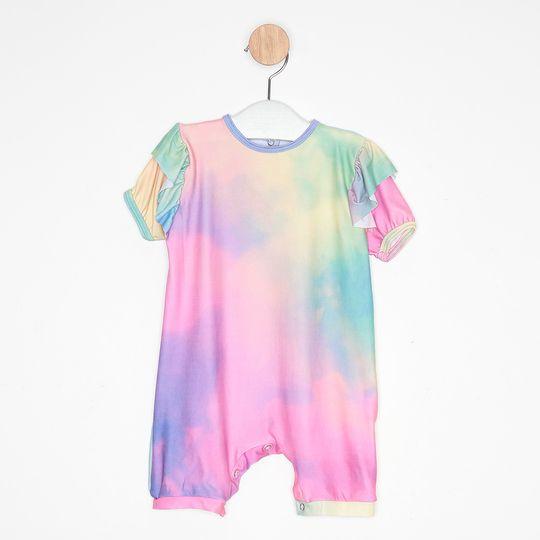 Macaquinho Bebê Tie Dye Colorida