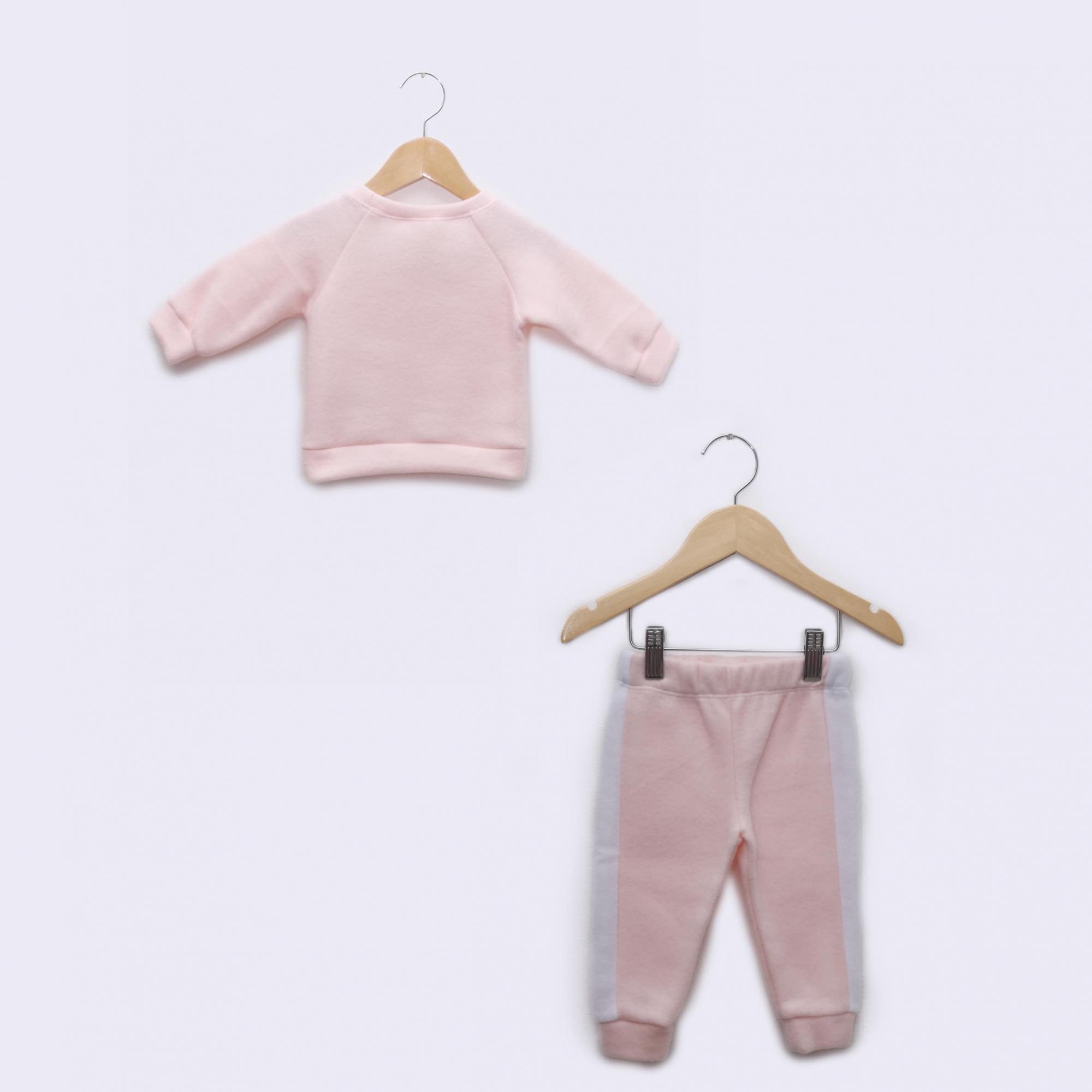 Pijama Bebê em Soft Fleece Rosa