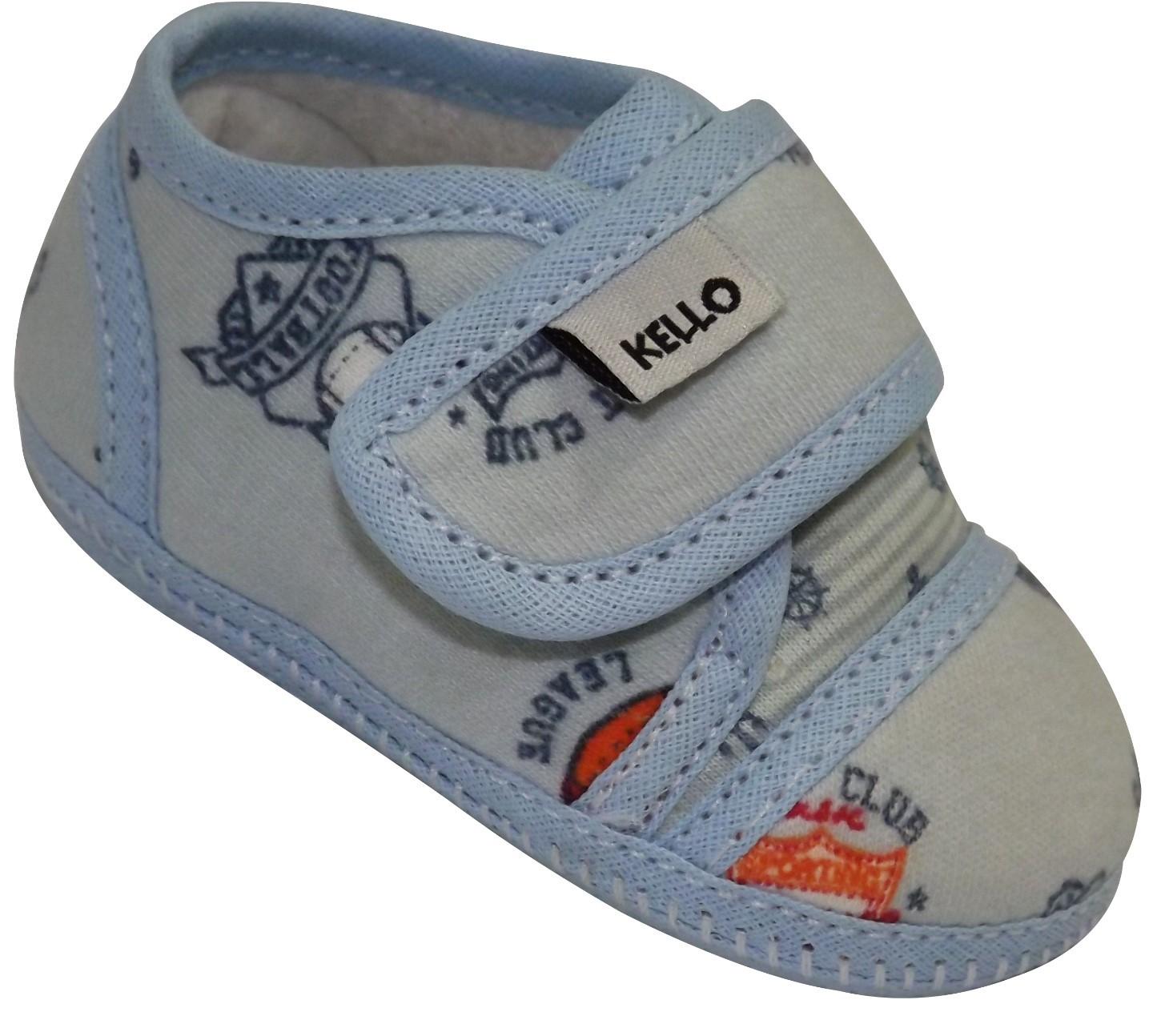 Sapato Infantil Menino Estampado com Velcro Cinza