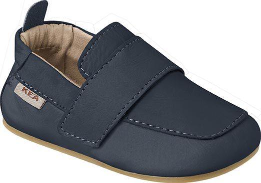 Sapato Primeiros Passos em Couro Menino Azul Marinho