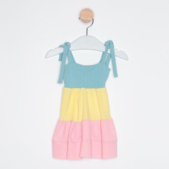 Vestido Bebê Midi Três Marias Alcinha Azul Royal