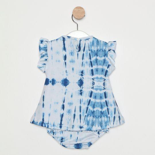 Vestido Comfy Bebê Tie Dye Azul