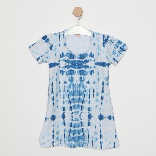 Vestido Comfy Infantil Tie Dye Azul