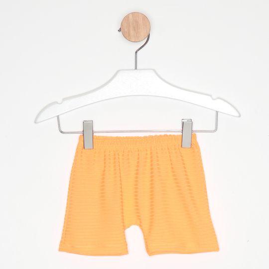 Vestido Curto Infantil Três Marias Babados Azul e Amarelo
