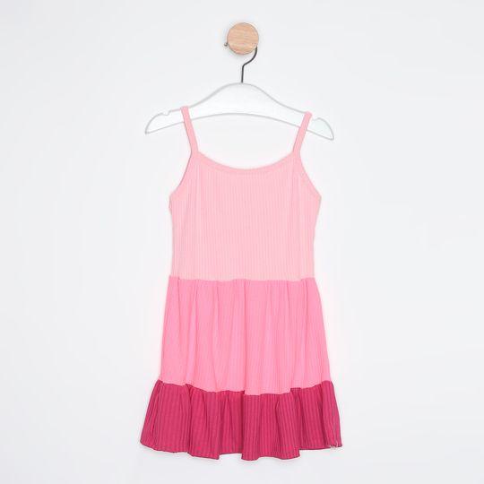 Vestido Infantil Midi Três Marias Alcinha Pink