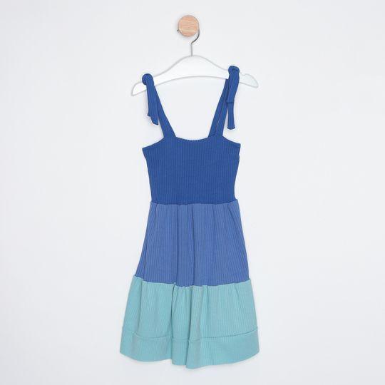 Vestido Infantil Três Marias Alcinhas Ajustáveis Azul Royal