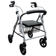 Andador Alumínio com 4 Rodas Dobrável Praxis Comfort