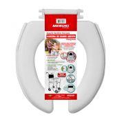 Assento Sanitário Oval Para Cadeira De Banho Aberto Almofadado Mebuki