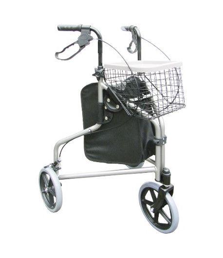 Andador Alumínio com 3 Rodas Dobrável Praxis Comfort