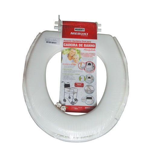Assento Sanitário Oval Para Cadeira De Banho Fechado Almofadado - Mebuki