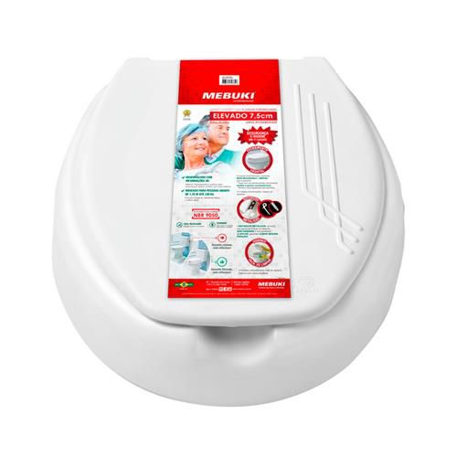 Assento Sanitário Elevado 7,5 c/ tampa - Mebuki