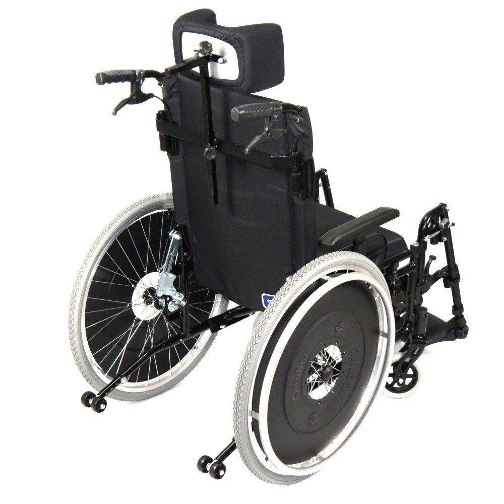 Cadeira de Rodas Reclinável AVD Alumínio Ortobras Dobrável X com Apoio de Cabeça Ortobrás