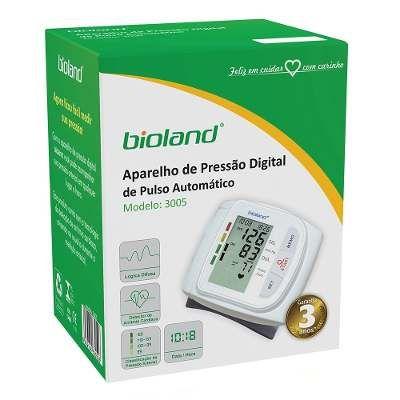 Aparelho de Pressão Automático de Pulso Bioland 3005