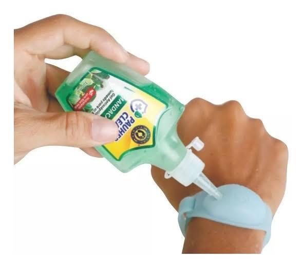 Kit Pulseira Silicone Porta-gel + Gel Antisséptico Ortho Pauher