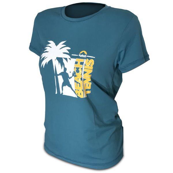 Camiseta Beach Tennis Coqueiro Feminino | Verde
