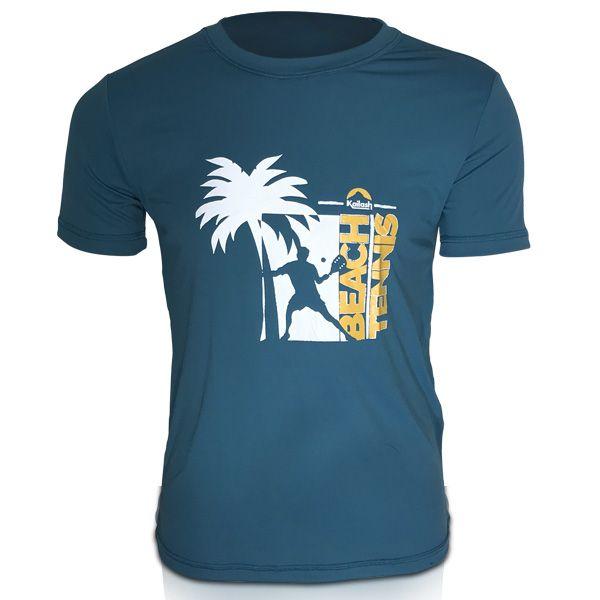 Camiseta Beach Tennis Coqueiro Masculina | Verde