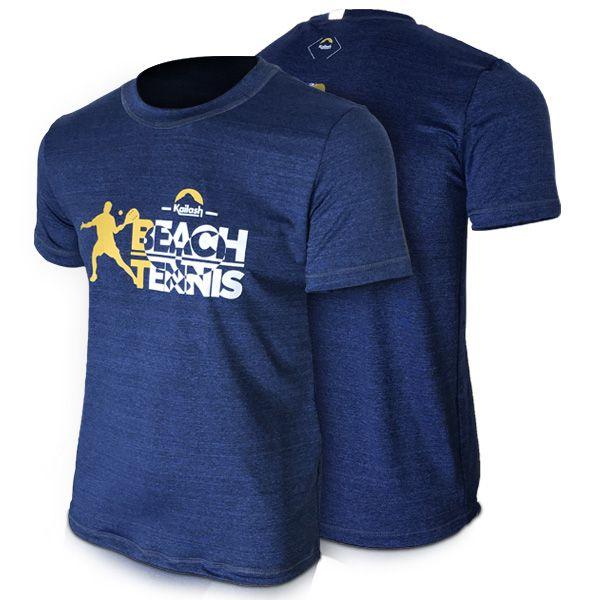 Camiseta Beach Tennis Player Masculina | Mescla Azul