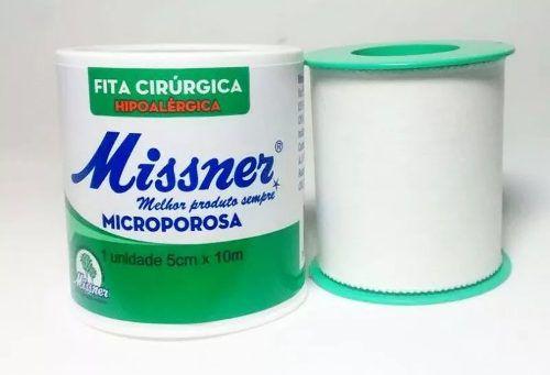 Fita Cirúrgica Microporosa Branca 5cm X 10m (8 Unidades)