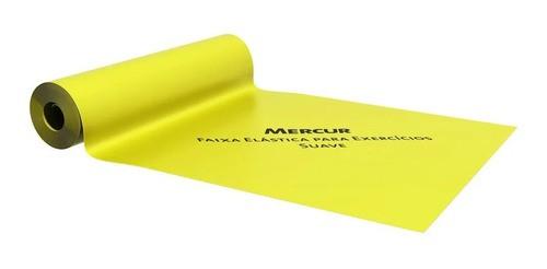 Faixa Elástica Para Exercícios Mercur 2 Metros Cor Amarela