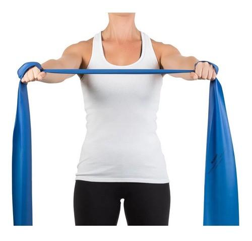 Faixa Elástica Para Exercícios Mercur 2 Metros - Cor Azul