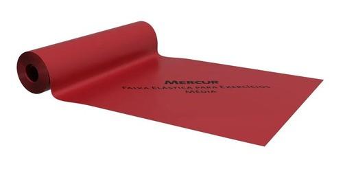 Faixa Elástica Para Exercícios Mercur 2 Metros Cor Vermelha