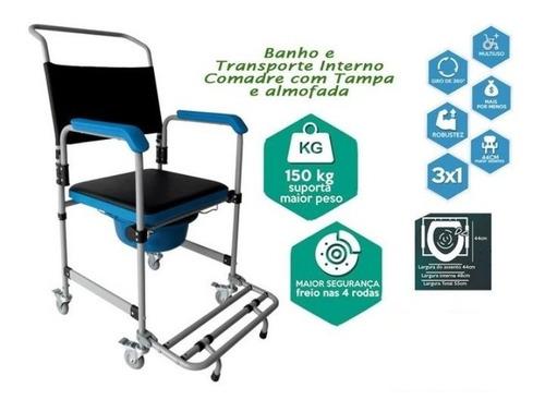 Cadeira De Banho Higienica Desmontável Até 150kg Dellamed