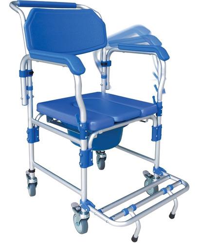 Cadeira De Banho Higiênica em Alumínio D60 Dellamed