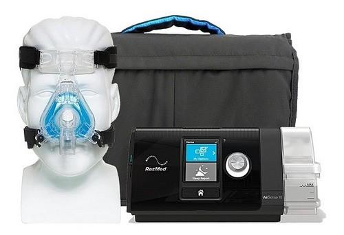 Cpap Airsense S10 Autoset C/ Umidificador + Máscara Nasal Comfortgel Blue