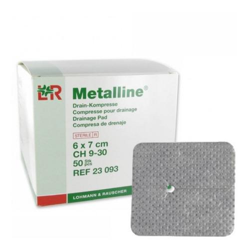 Curativo Absorvente Estéril P/ Dreno ou TQT Infantil Metalline 6x7 Cm (10un)