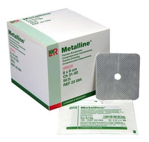Curativo Estéril P/ Traqueostomia Metalline 8x9 Cm (10un)