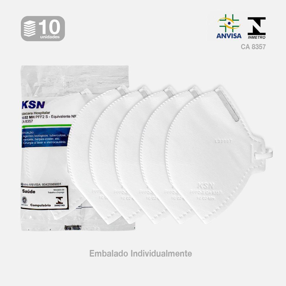 Máscara Hospitalar PFF2 S KSN (kit 10 unidades)