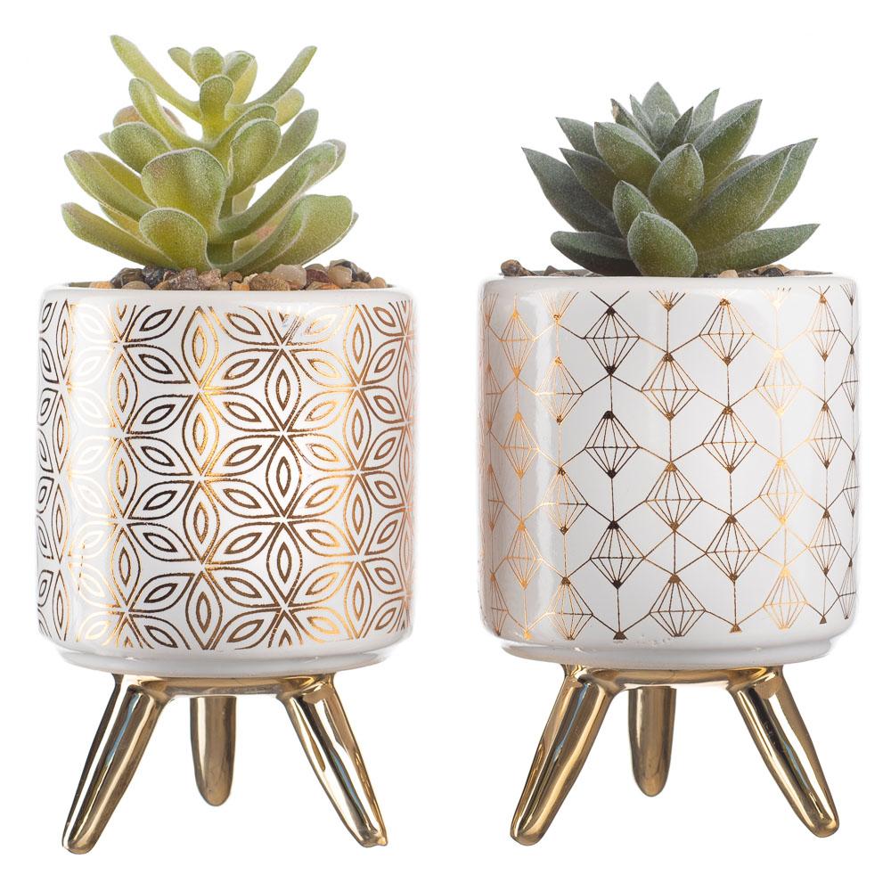 2 Vasinho Suculenta Artificial Vaso Decoração Ambiente Festa