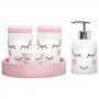Kit Higiene Bebê Porta Algodão Banheiro Quarto Nuvem KHBB-419