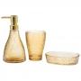 Kit Banheiro Lavabo Dispenser Sabonete Líquido Vidro / 409