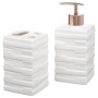 Kit Banheiro Lavabo Porta Sabonete Líquido 2 Peças/ Rosê 016