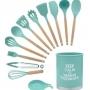Kit Com 13 Utensílios De Cozinha Gourmet Silicone Livre BPA