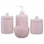 Kit Higiene Bebê Infantil Porta Algodão Banheiro 4 Peças / 302