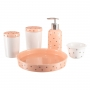 Kit Higiene Bebê Infantil Porta Algodão Banheiro Quarto 5 peças / KH-080