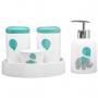 Kit Higiene Bebê Porta Algodão Banheiro Quarto Balãozinho KHBB-479
