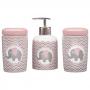 Kit Higiene Bebê Porta Algodão Banheiro Quarto Elefante KHBB-478