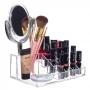 Organizador Com Espelho Duplo Porta Maquiagem Em Acrílico