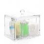 Porta Algodão Cotonete Organizador Acrílico Higiene Banheiro