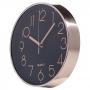 Relógio De Parede 24 Cm Decorativo Preto / Rosê Gold