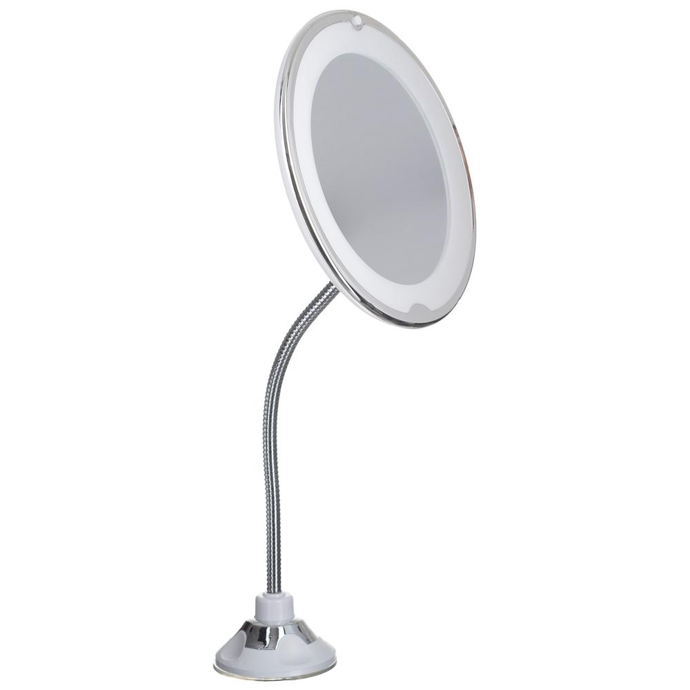 Espelho Com Luz Led 10 X Aumento P/ Maquiagem Banheiro / 534