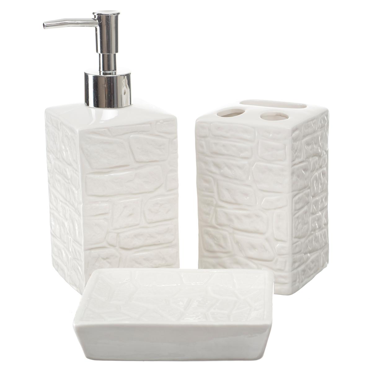 Kit Banheiro Conjunto Lavabo Porta Sabonete Líquido Br332